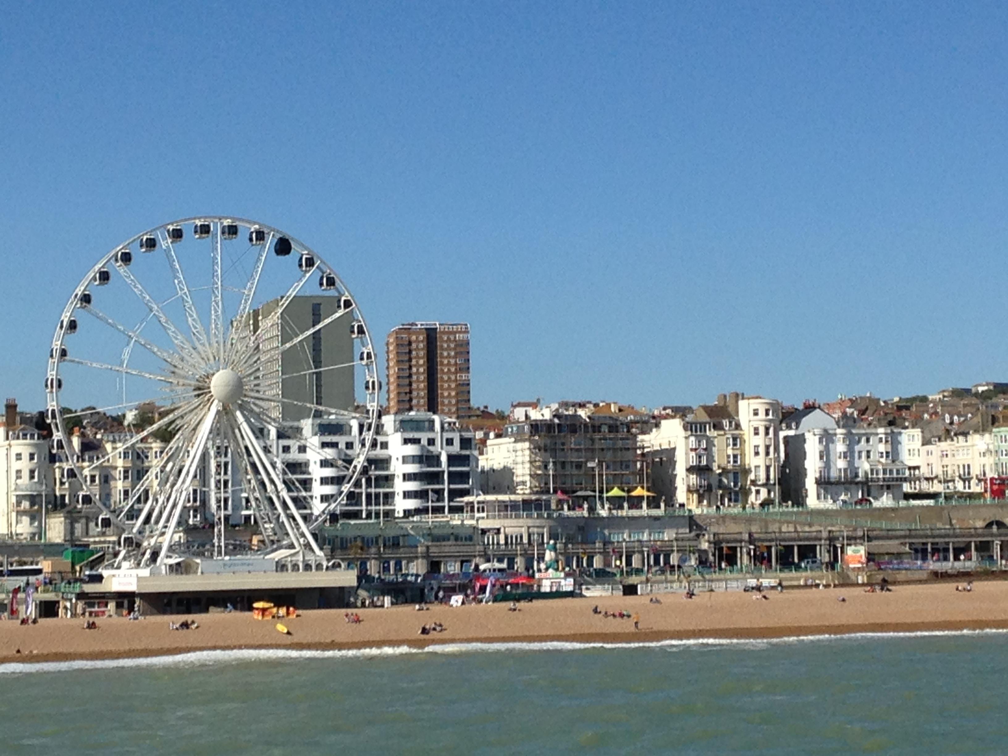 All Sunshine in Brighton, England today!