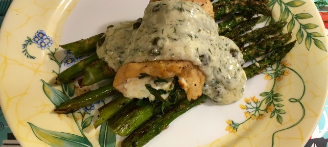 Pinterest Challenge ~ #3 ~ Goat Cheese and Spinach Stuffed Chicken
