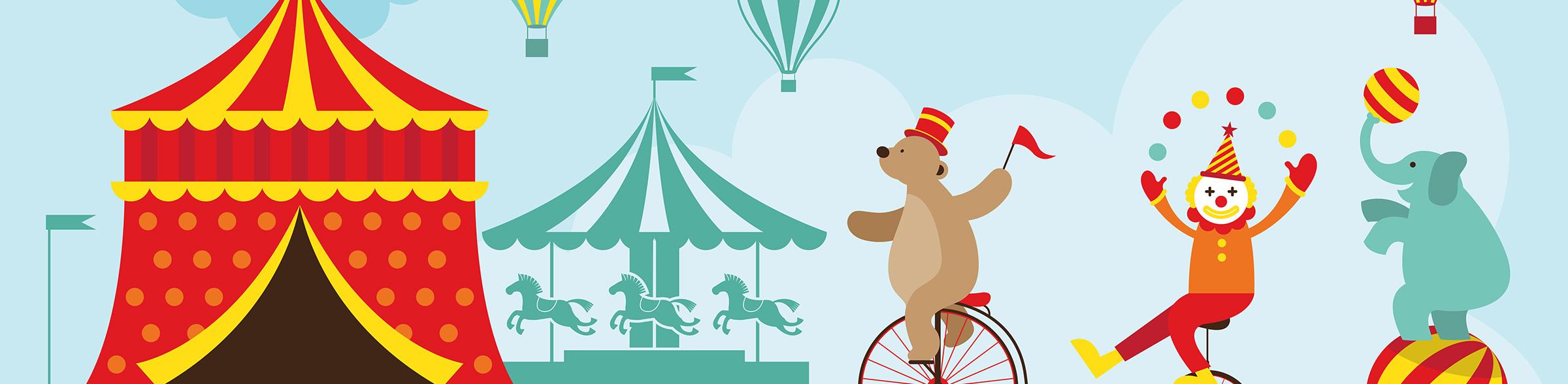 Cartoon of a Circus