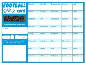 Bingosupermarket Football Fundraising Scratch Cards (40 Team)