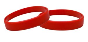 10 Silicone Wristbands Magenta Adult