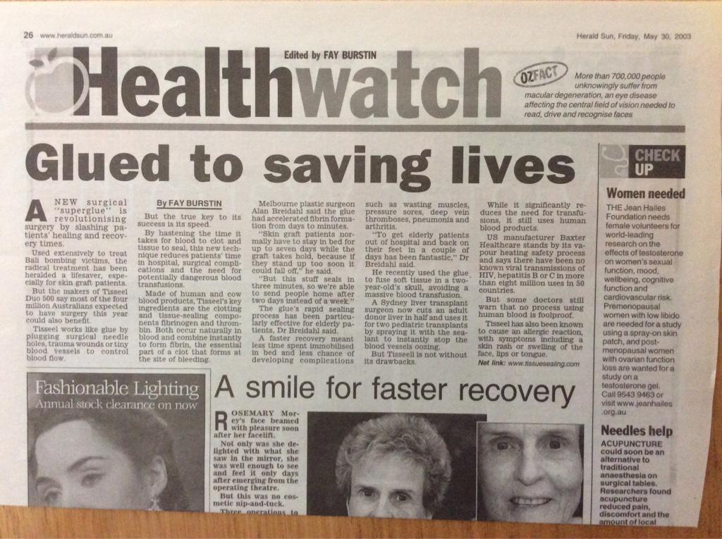 Glued to saving lives