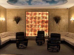 Salt Wall in Relaxation Room