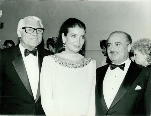 Adnan Khashoggi with Cary Grant and Lamia Khashoggi