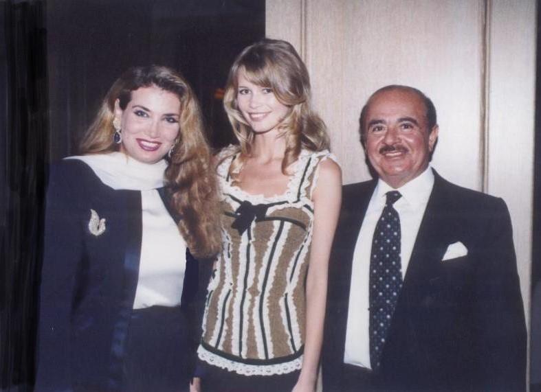 Adnan Khashoggi with Claudia Schiffer
