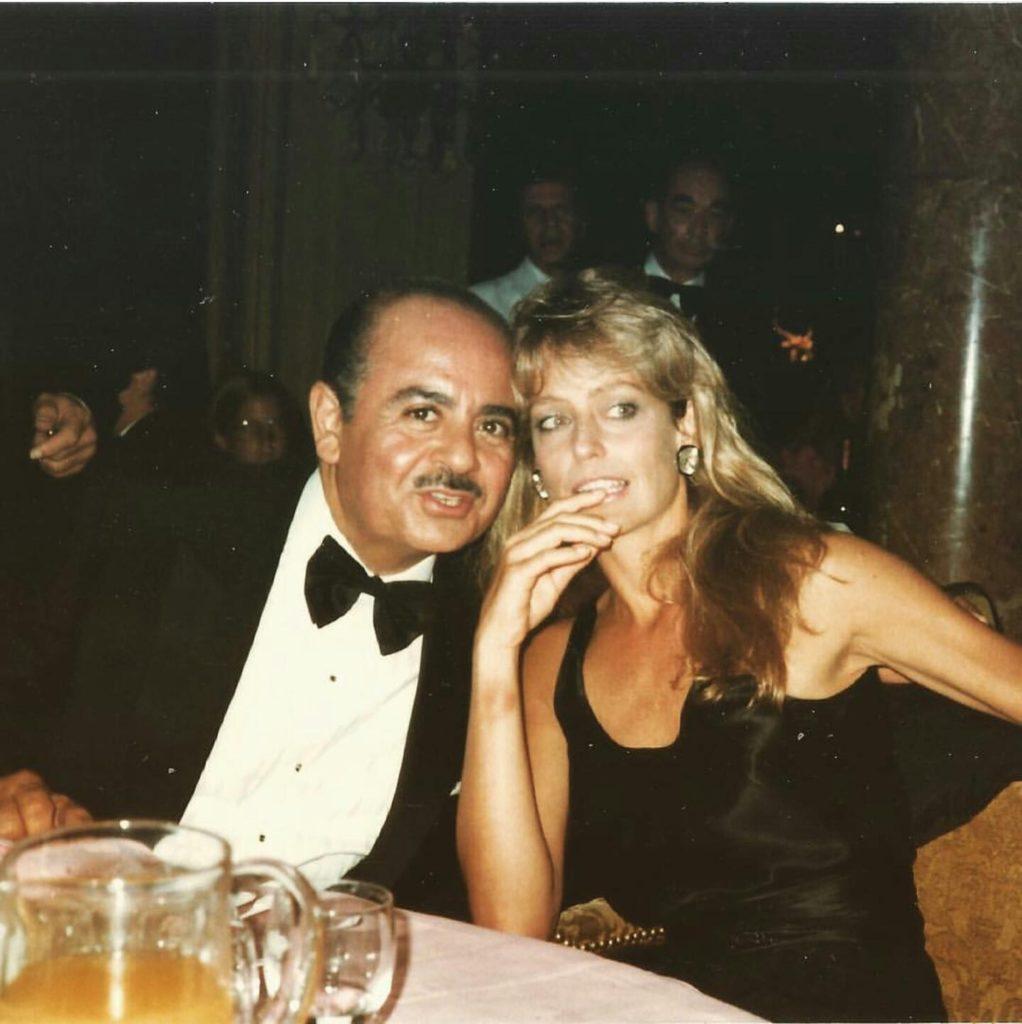 Adnan Khashoggi with Farah Fawcett