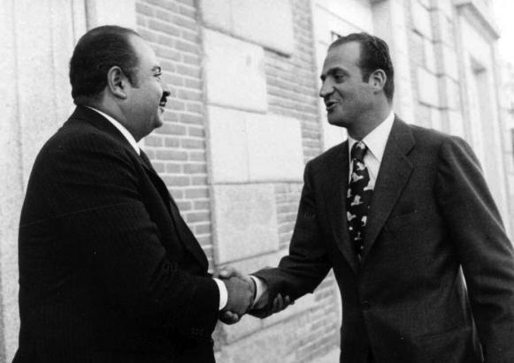 Adnan Khashoggi with Juan Carlos I King of Spain