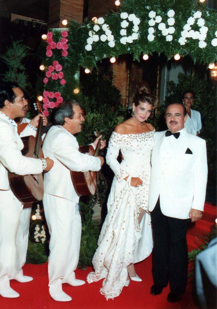 Adnan Khashoggi and wife Lamia Khashoggi