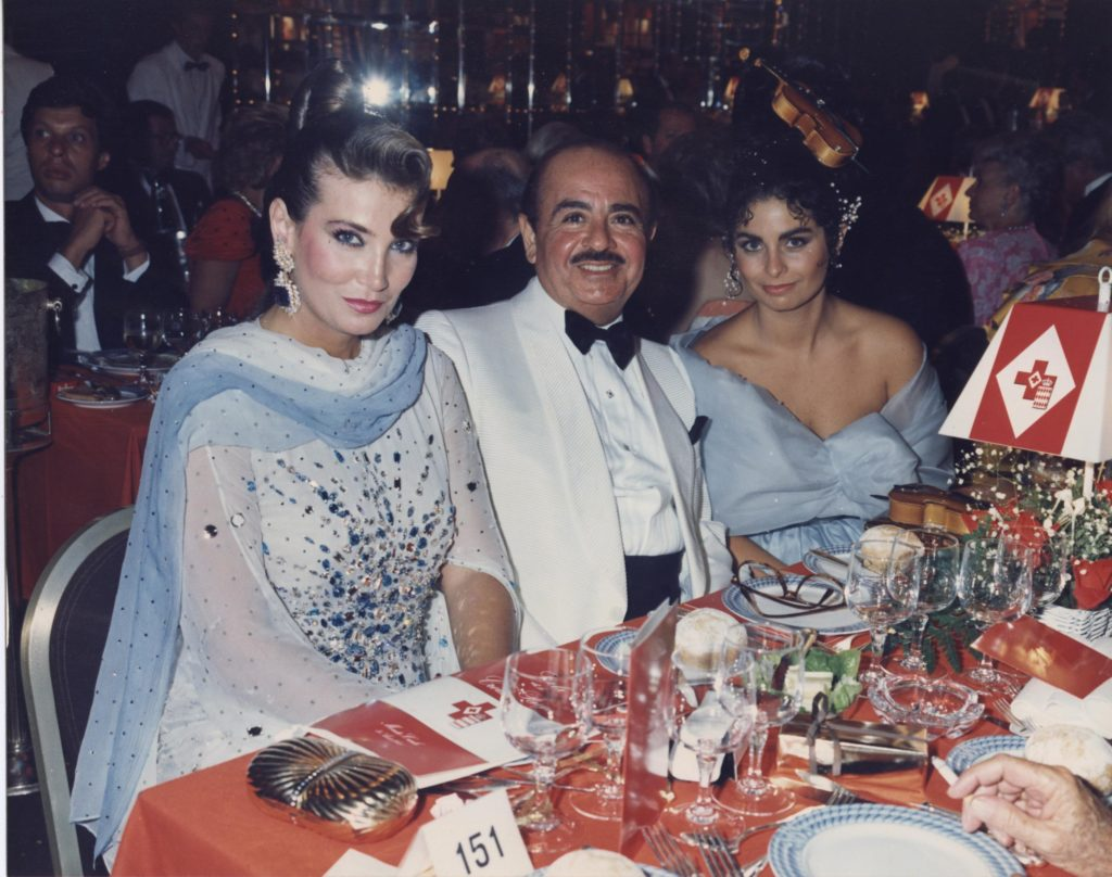 Adnan Khashoggi, daughter Nabila Khashoggi, and Lamia Khashoggi