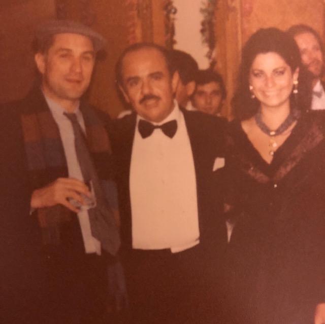 Adnan Khashoggi with Robert De Niro and daughter Nabila Khashoggi