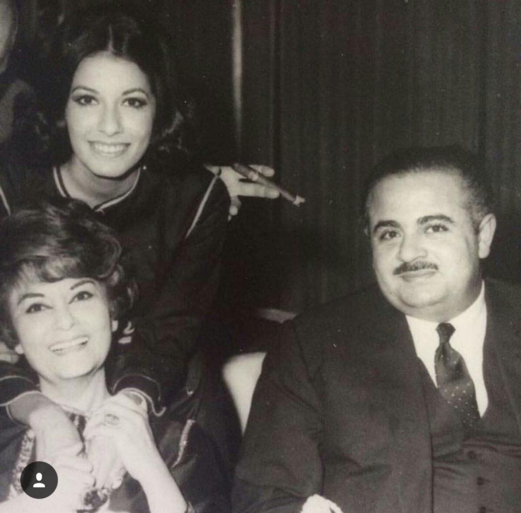 Adnan Khashoggi with mother Samiha Khashoggi and sister Soheir Khashoggi