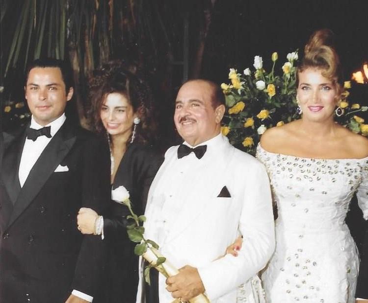 Adnan Khashoggi, Lamia Khashoggi, daughter Nabila Khashoggi, and son Mohamed Khashoggi