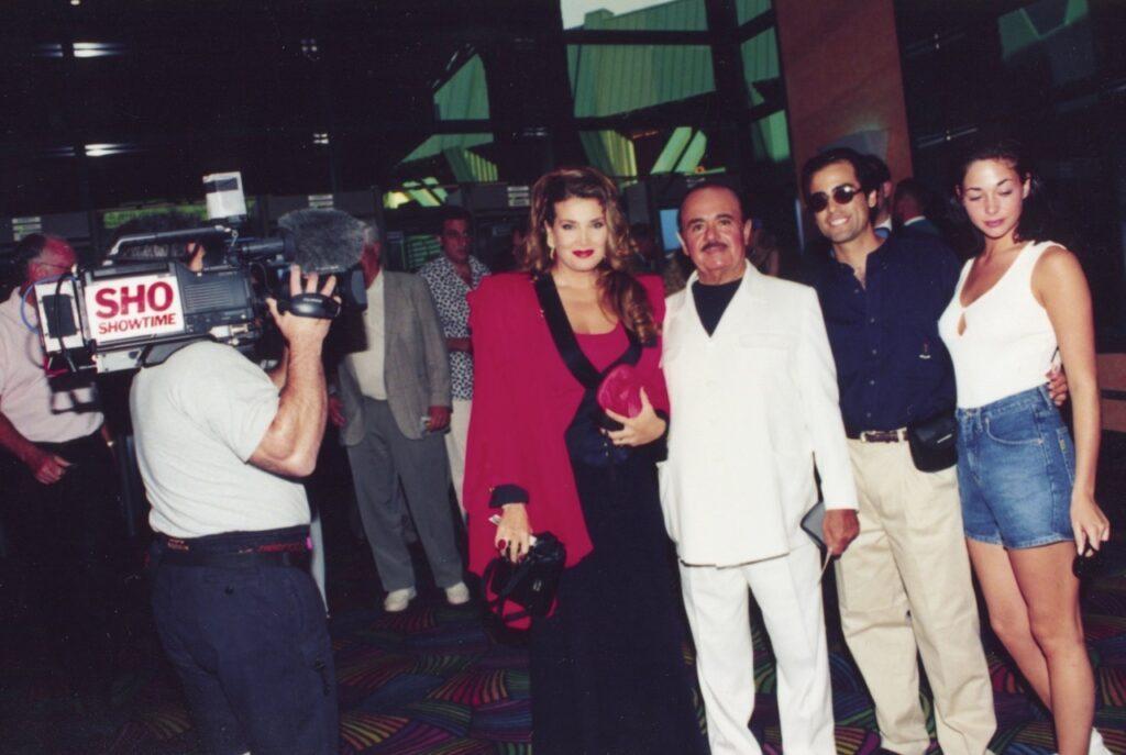 Adnan Khashoggi with wife Lamia Khashoggi and son Hussein Khashoggi