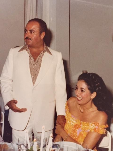 Adnan Khashoggi with sister Soheir Khashoggi