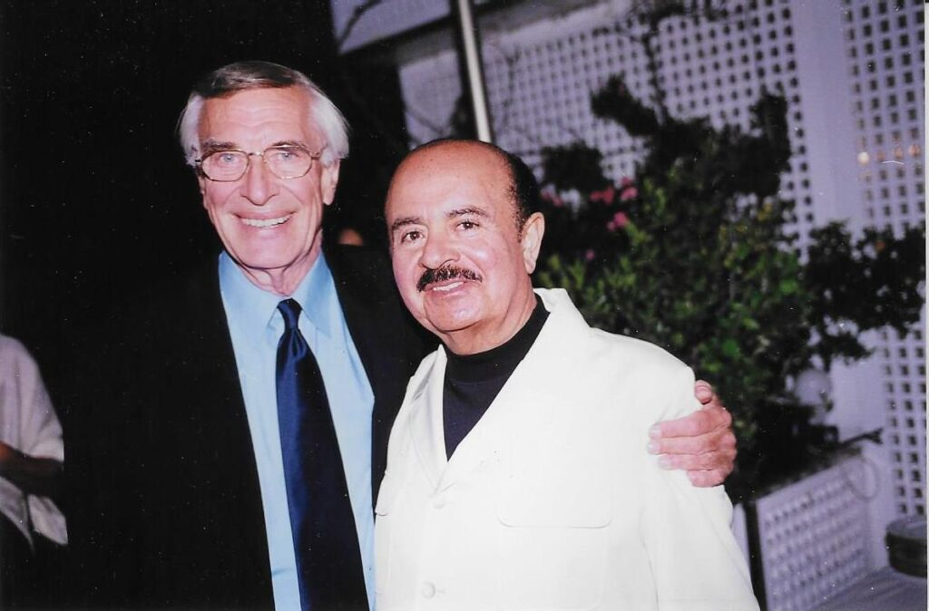 Adnan Khashoggi with Martin Landau