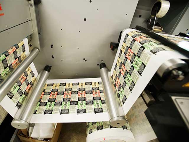 Juice label printing