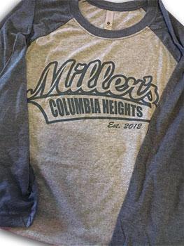 MIllers baseball t-shirt