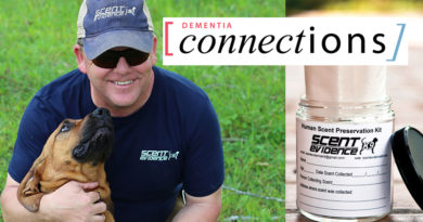 Scent Evidence K9 featured in Dementia Connections