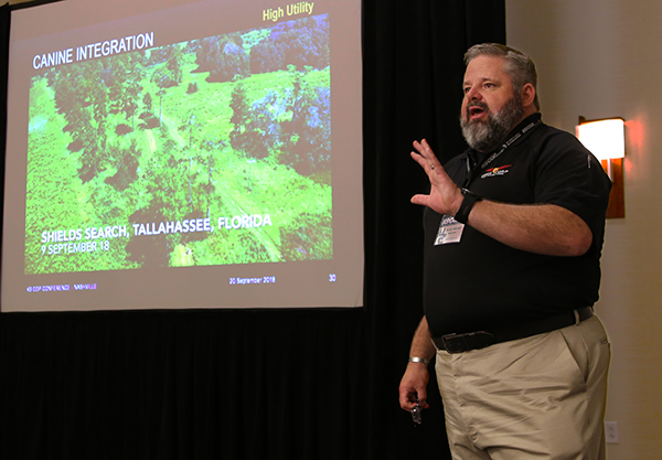 FSU Emergency Management and Homeland Security Director, David Merrick instructs at K-9 Cop Conference