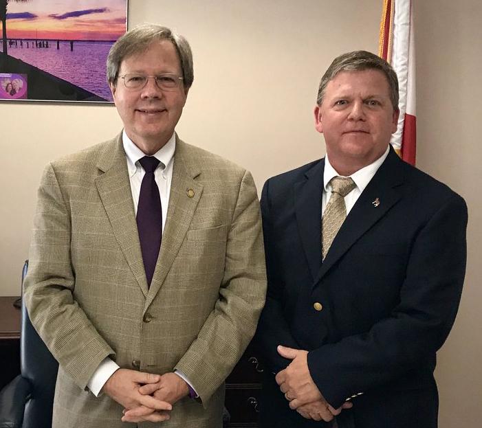 Florida Representative Scott Plakon and Scent Evidence K9 CEO Paul Coley