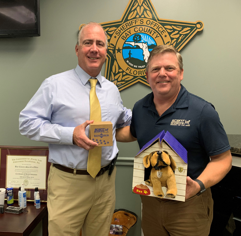 Bay County Sheriff Tommy Ford and Paul Coley