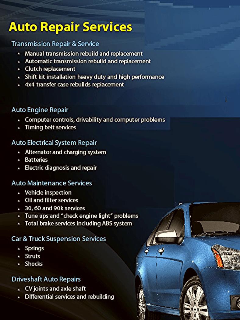 auto repair express services