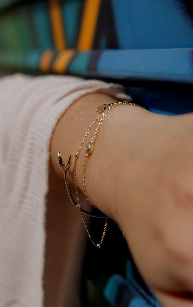 the right bracelet