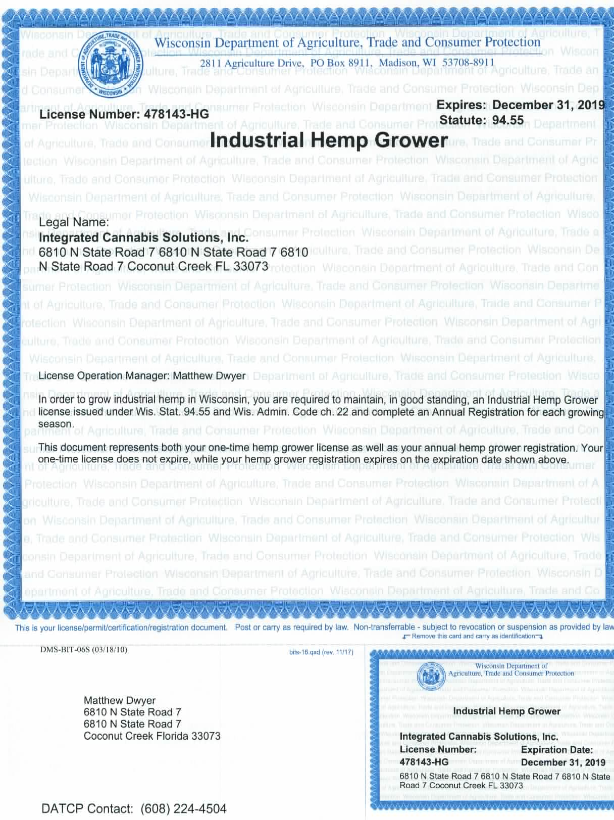 Grow License