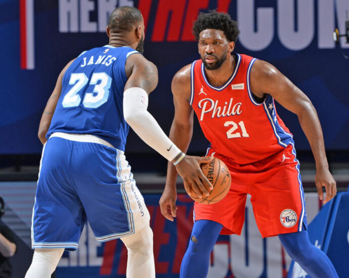 Joel Embiid chases Lebron James for MVP