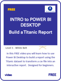 Intro Learn Power BI Titanic Video