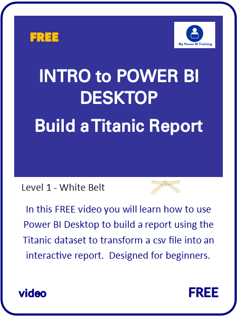 Intro Learn Power BI Titanic Video