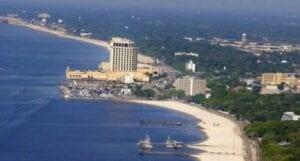 beach drone view