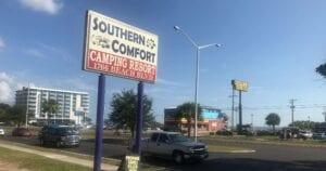 Southern Comfort Camping Resort signage