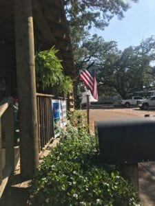 USA flag in cottage