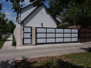 Frosted Glass Sliding Gate