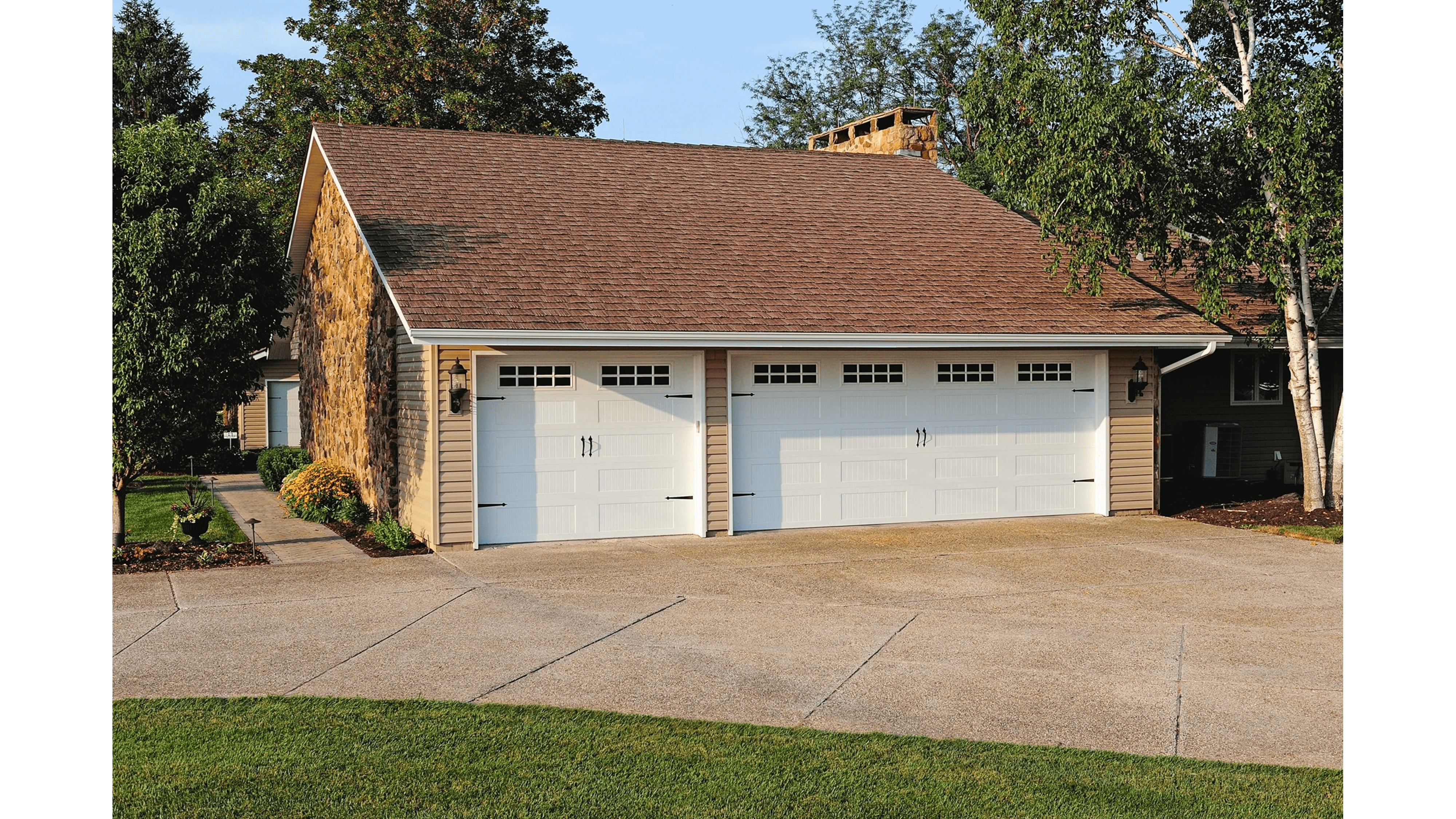 Carriage House Garage Doors with Windows
