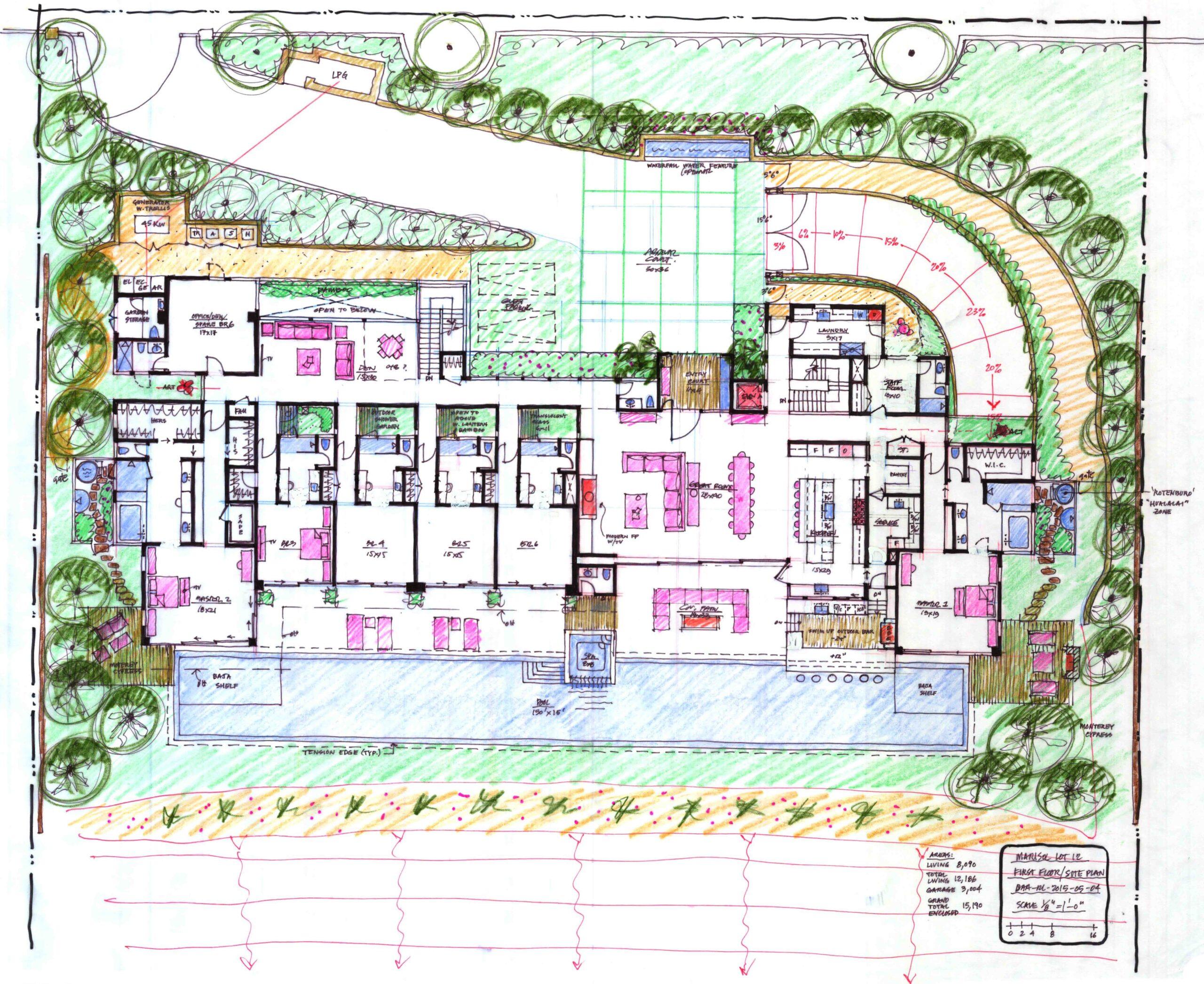 Marisol Lot 12_1st floor-site plan