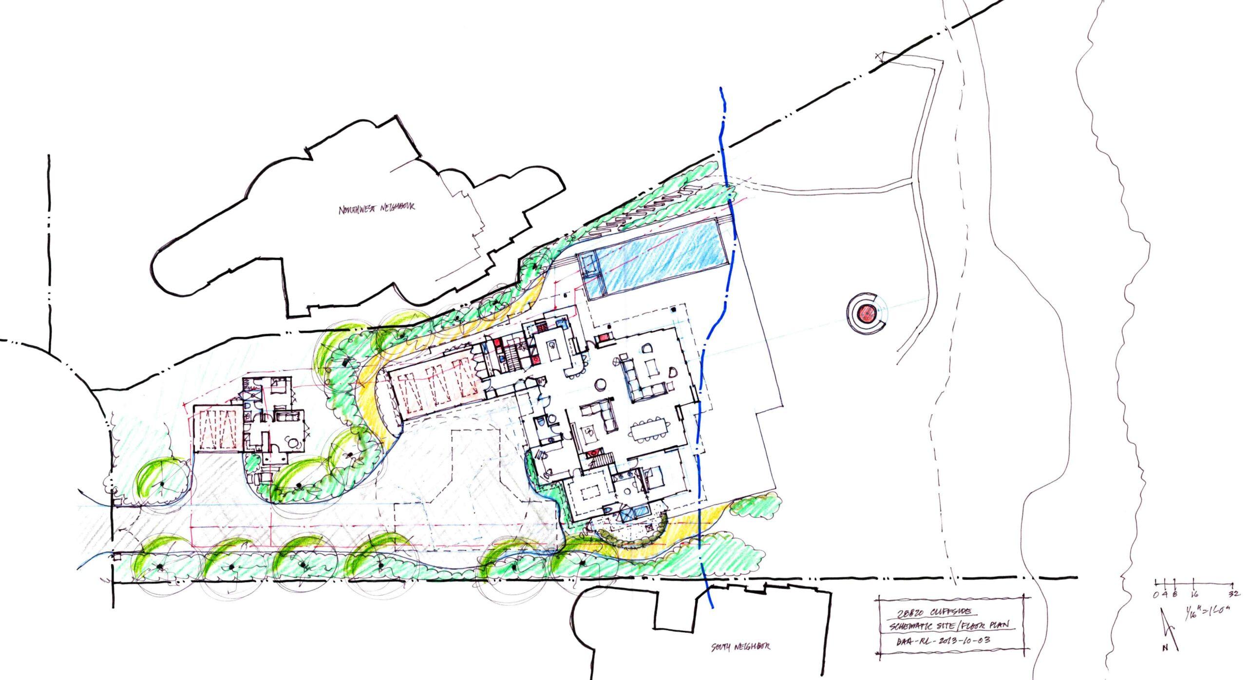 Schematic Site-Floor Plan_28820 Cliffside