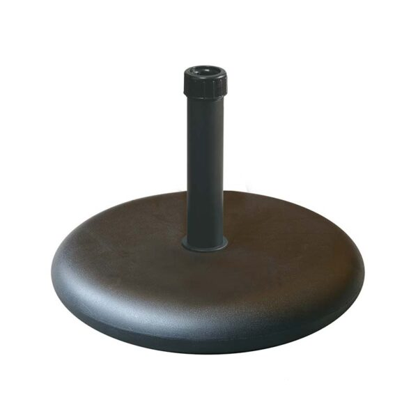55lbs Black concrete polycrete base with black steel neck