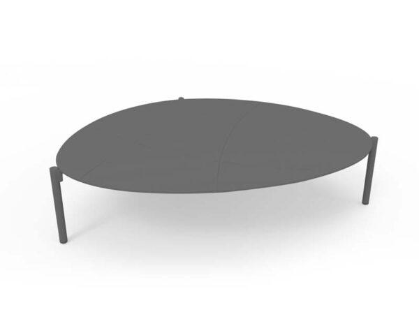 Cobblestone coffee table L Charcoal 1