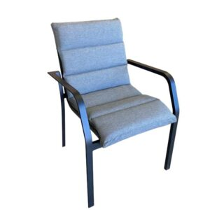 Knight Sling Chair with Cushion Black 1