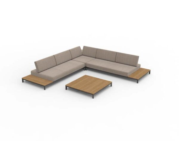 Moore sofa with square coffee table 1