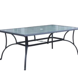 Springfield 42x72 and 42x84 Rectangular Glass Table