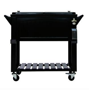 80 Quart Cooler Furniture Style Black