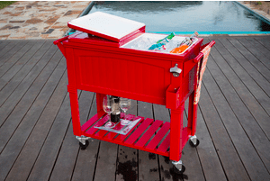 80 Quart Cooler Furniture Style Red2