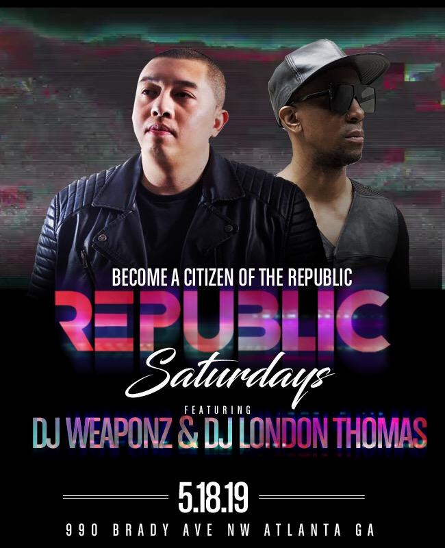 Sexy Saturdays @ Republic Lounge 05.18