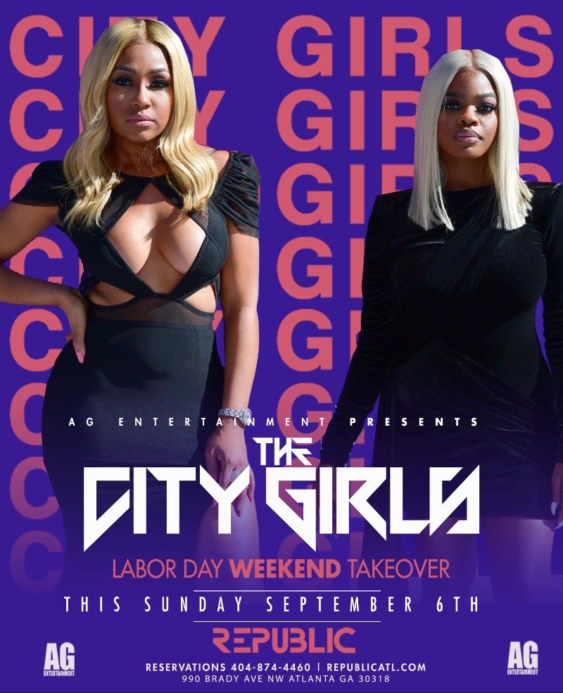 CITY GIRLS LABOR DAY TAKEOVER | SUNDAY SEPTEMBER 6