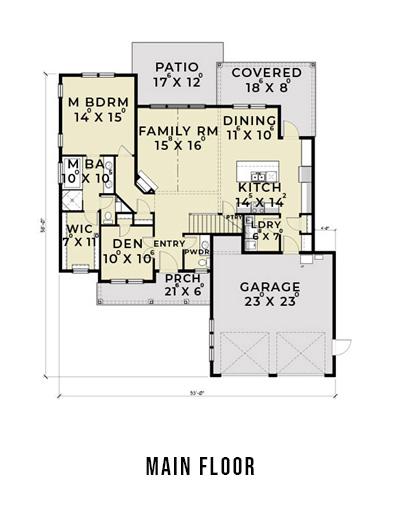 Farmhouse 801 Floor Plan