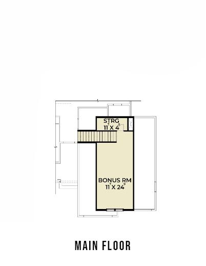Farmhouse 815 Bonus Room Floor Plan