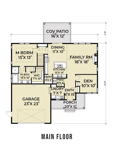 Farmhouse 817 Main Floor Plan